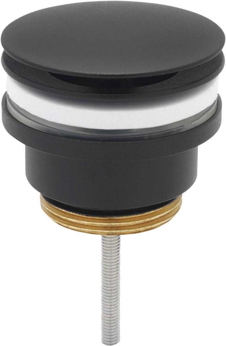 Ben Fixed Wastafelplug - Niet Afsluitbaar - Gestructureerd - Zwart