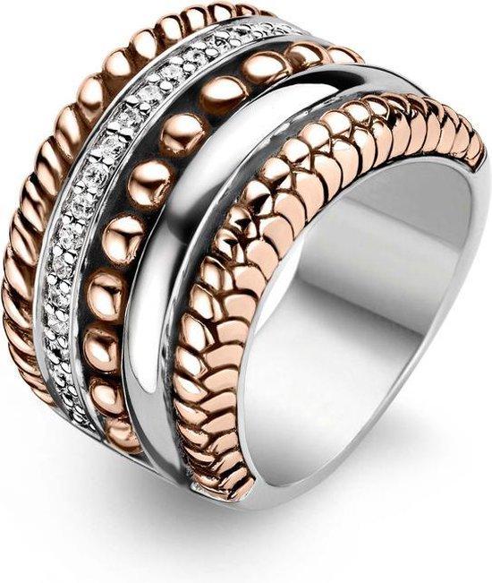 TI SENTO Milano Ring 1835ZR - Maat 60 (19 mm) - Gerhodineerd Sterling Zilver