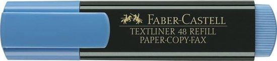 tekstmarker Faber Castell 48 blauw FC-154851