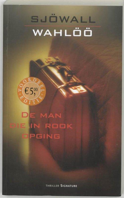 Cover van het boek 'De man die in rook opging' van Maj Sjowall en  Sjowall