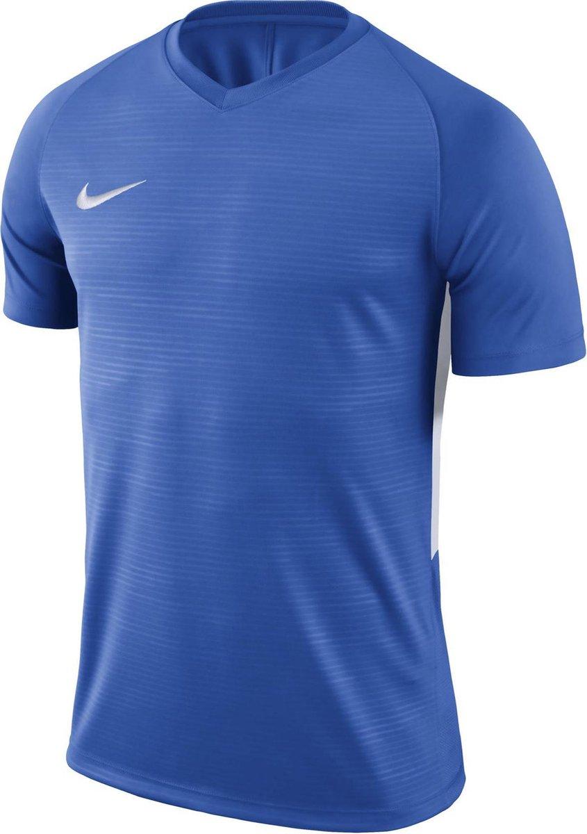 Nike Tiempo Premier SS Jersey  Sportshirt - Maat M  - Mannen - blauw