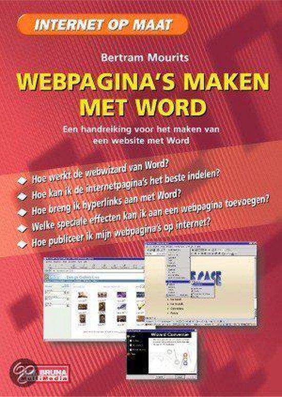 Webpagina's maken met word 2000 - Bertram Mourits |