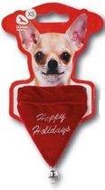 Honden Kerst Sjaal - Dierenkleding - Rood - XS