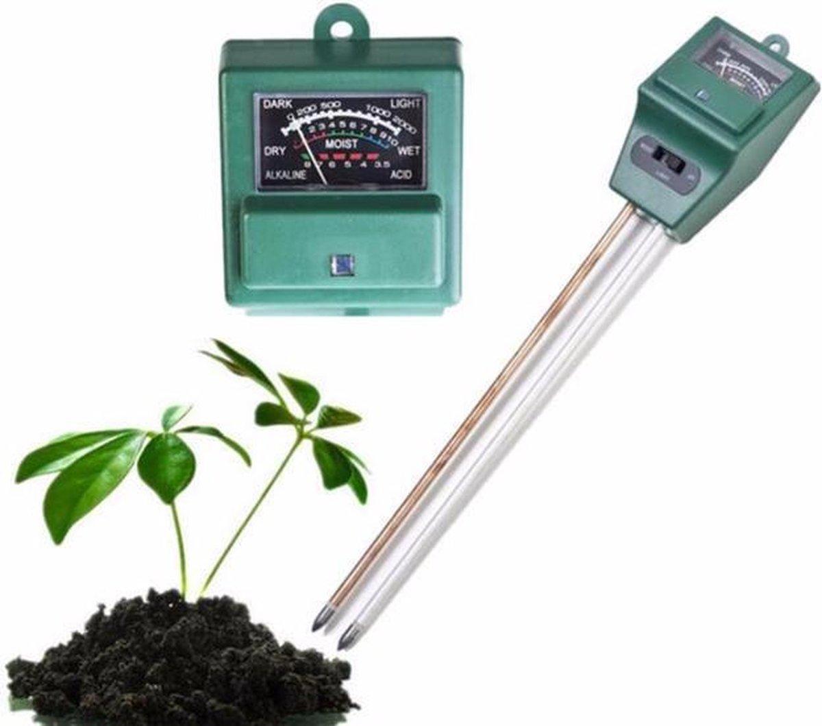 PH meter 3 IN 1 grond meter voor planten en tuin - Licht, vocht, PH - Levay