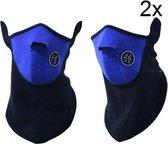 2x Motormasker Motor Masker Ski Skimasker Neopreen blauw