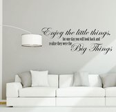 Kimano Muurtekst Enjoy the Little Thing - 90 Cm - Zwart