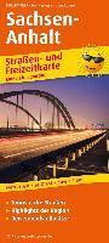 Sachsen-Anhalt. Straßen- und Freizeitkarte 1 : 200 000