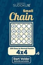 Small Chain Sudoku - 200 Easy to Normal Puzzles 4x4 (Volume 6)