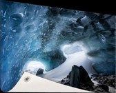 Gletsjergrot Tuinposter 120x80 cm - Tuindoek / Buitencanvas / Schilderijen voor buiten (tuin decoratie)