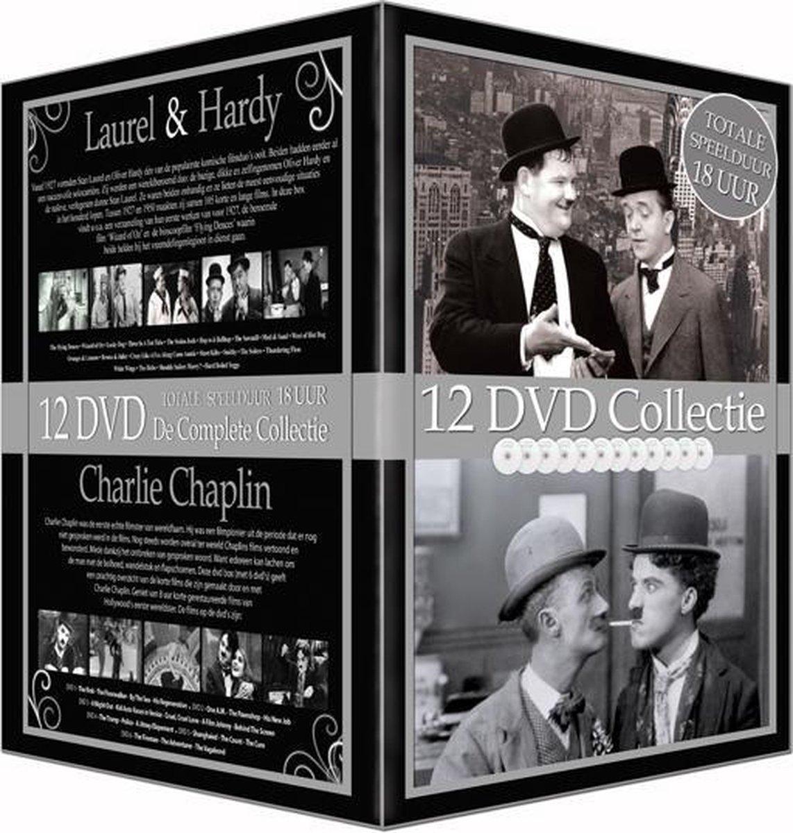 Laurel & Hardy/Charlie Chaplin 12 Dvd - Laurel & Hardy