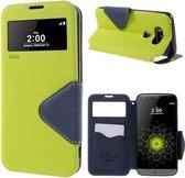 LG G5 Hoesje Groen met Venster en Opbergvakje, H850