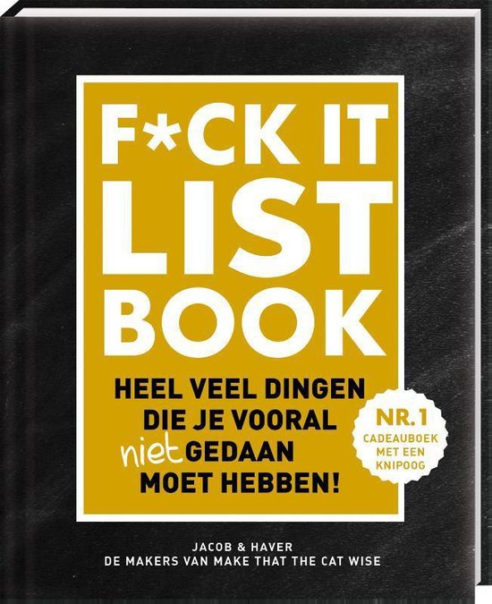 Boekomslag voor F*CK-it list book