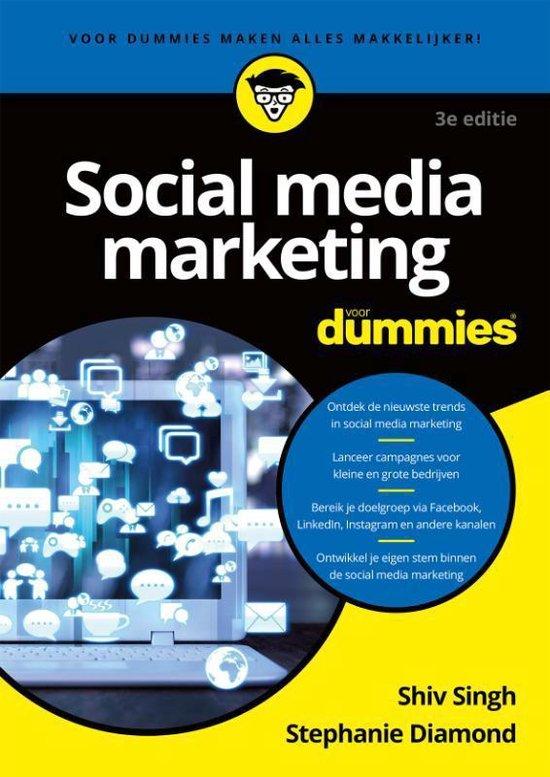 Boek cover Voor Dummies  -   Social media marketing voor Dummies van Shiv Singh