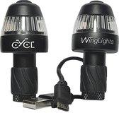Winglights 360 fixed -USB oplaadbaar - Richtingaanwijzers + voorlicht + achterlicht