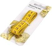 Meetlint | Meetband | Centimeter | Classic Kunststof Meetlint voor kleding of hobby | Metalen Eindplaat|150 CM - Geel