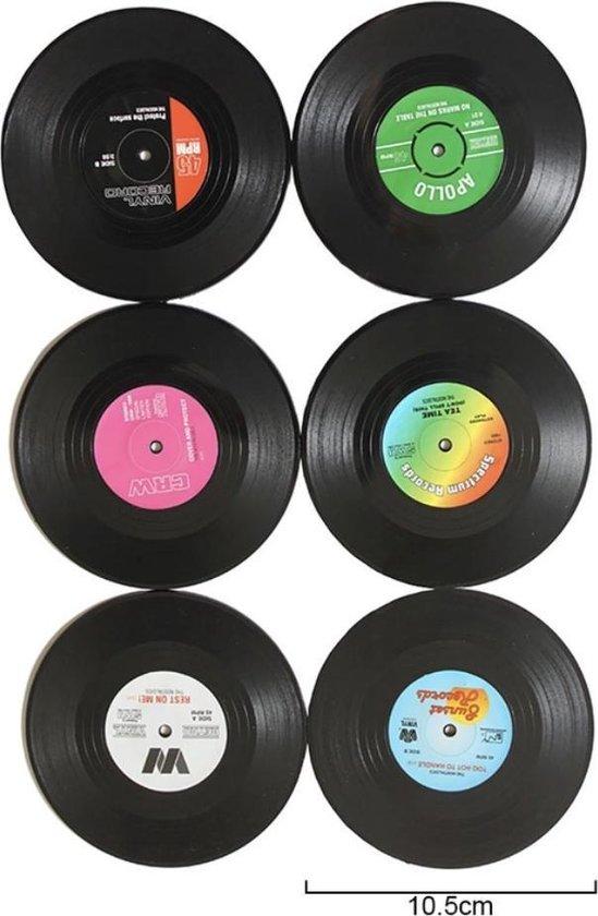 LP | Vinyl Onderzetters 6 stuks van Versteeg® - retro - Onderzetters - Vintage - Platen - Rond - Langespeelplaat - Muziekliefhebber - Muziekliefhebbers - LP's - Glazen - Glazenonderzetter - Glazenonderzetters - Drinkenonderzetters