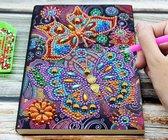 Diamond Painting Notitieboek - 14x21cm - Vlinder