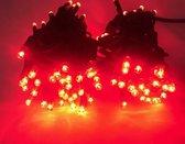 Tronix kerstverlichting snoer 100 rode  LED's  Buiten