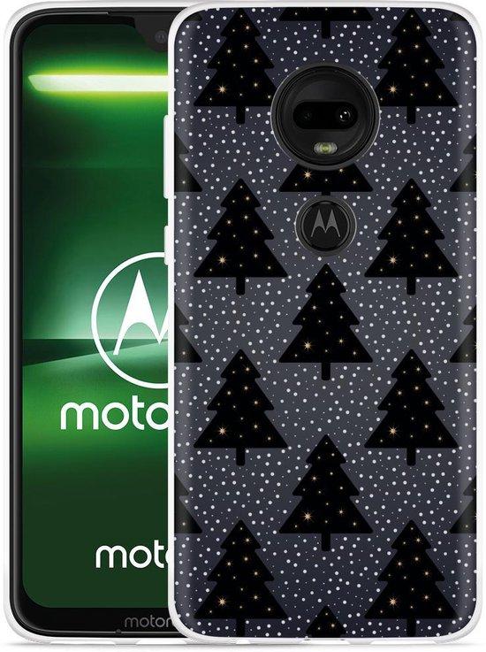 Moto G7 Plus Hoesje Snowy Christmas Trees