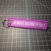 Remove Before Flight sleutelhanger