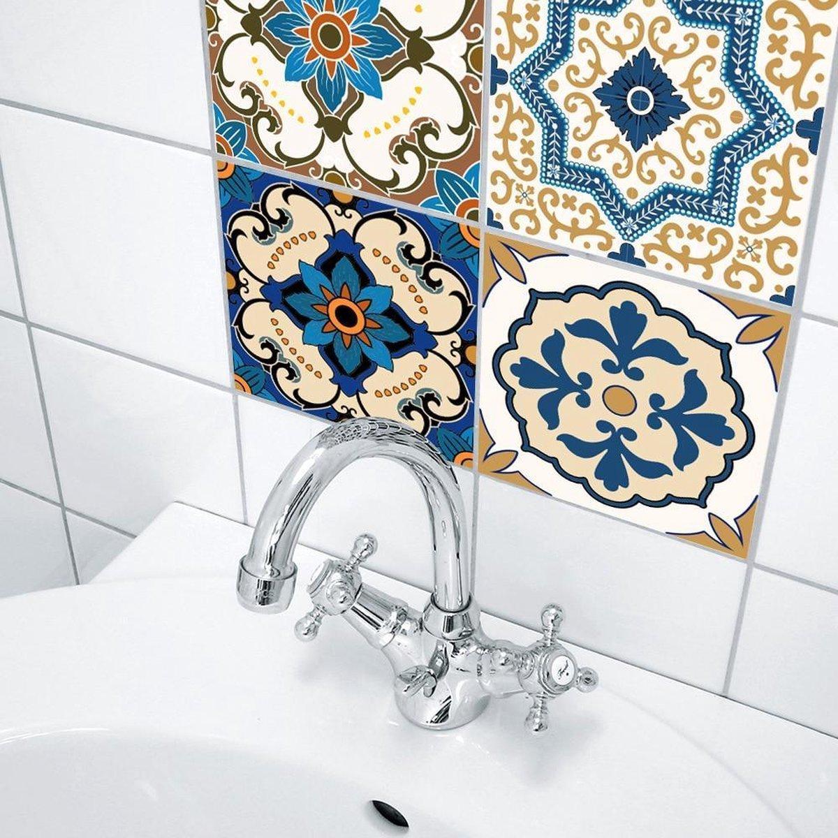 Bol Com 3d Sticker Decoratie Marokkaanse Tegels Pvc Waterdichte Zelfklevende Behang Meubels