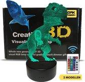 3D Lamp verstelbaar in verschillende kleuren | afstandbediening |Lamp kinderkamer |Haai & Dino |lampen staand