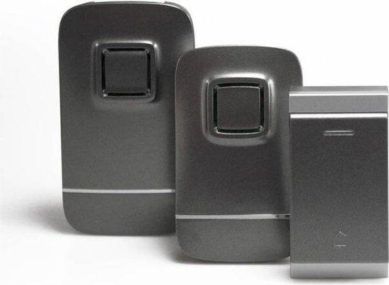 Mr. Handsfree iBell Set KB300 - Draadloze deurbel - 2 Ontvangers - Grijs