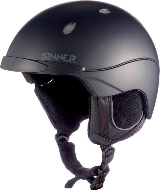 Sinner Titan Skihelm - Unisex - Zwart - Maat M