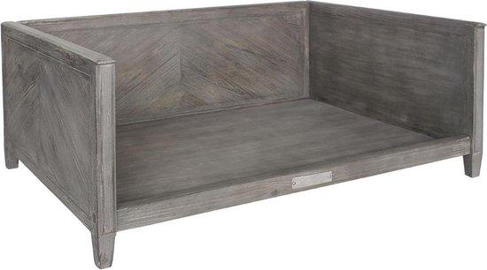 Luxe Sofa Hout Finished in visgraatmotief (L) Oudgrijs excl. Kussen