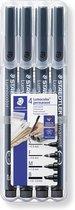 STAEDTLER Lumocolor permanent pen set - Box S-F-M-B