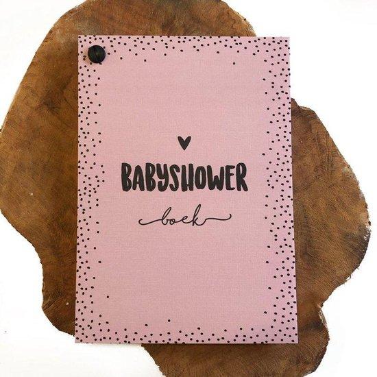Hippe Kaartjes Babyshower boek met invulkaarten Roze Roze