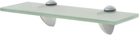 Zwevende Wandplank Glas 30x20 cm (Incl fotolijst) - Boekenplank - Muurplank - Wandrek - Boeken plank