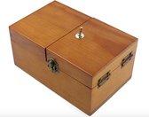 Useless Box - Gemonteerde Useless Box - Hout - Nutteloze Doos - Fop Doos - Fop Doosje -