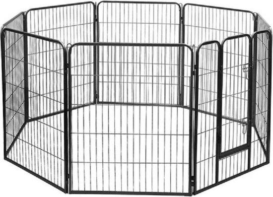 Top Kwaliteit Puppy ren 8 delen zwart - 100cm Hoog