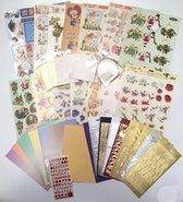Groot Knutselpakket - Stickervellen, 3DA4 vellen, Foam blokjes, Foamtape - Voor kaarten maken, Scrapbooking en andere creatieve objecten.