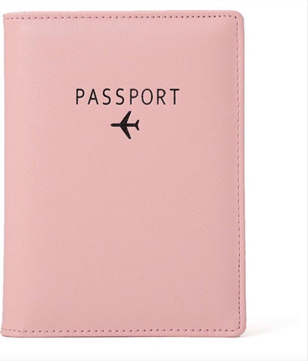 Paspoort Cover Roze & Pasjeshouder - Premium Quality! Paspoorthoes Paspoorthouder Paspoort Hoesje Ma