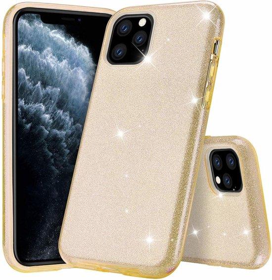 Ntech Apple iPhone 11 Pro Max Glitter TPU Back Hoesje - Goud