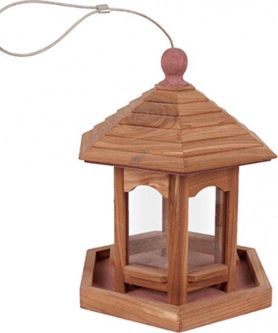 Voederhuis Tica - Hangend - Vogelvoederplek - 20 x 20 x 25 cm - Flamingo