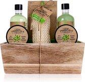 Verjaardag cadeau vrouw - Badset Olive - Bath & Body - kado vrouwen - geschenkset vrouwen voor moeder, geliefde of vriendin