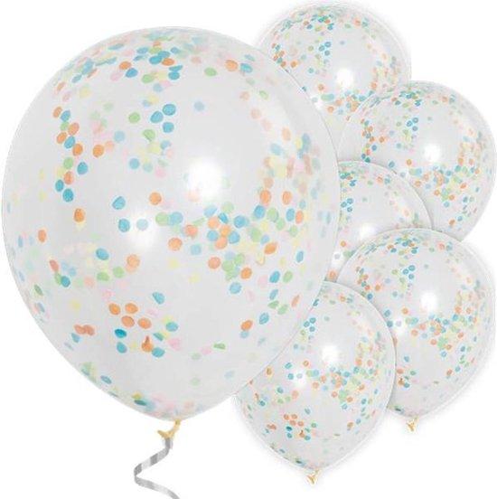 Ballonnen Confetti Multicolor - 6 stuks