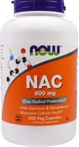 NAC, 600 mg (250 vegetarische capsules) - Now Foods