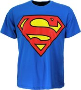 DC Comics Superman Logo T-Shirt Volwassenen Donker en Lichtblauw