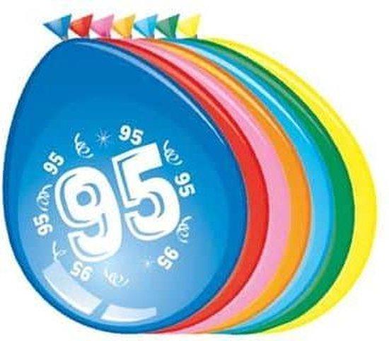 Ballonnen 95 jaar - 30cm - 8 stuks