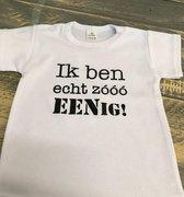 Baby Rompertje met tekst bedrukking voor de eerste verjaardag 1 jaar meisje jongen | Lange mouw | wit goud roze blauw zwart | maat 74-80 | geen jurk of tutu cadeau met naam