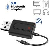 DrPhone StreamX4 Light - USB Bluetooth-adapter 5.0 + EDR - Bluetooth-zender Ontvanger HiFi Draadloze audio-adapter met 3,5 mm AUX