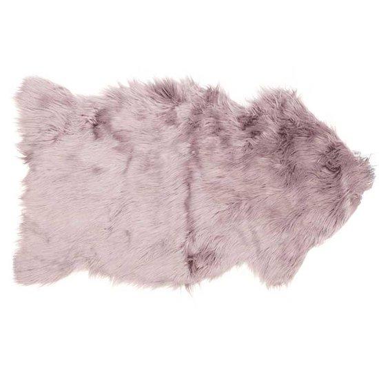 Decoratie vacht fake fur - 60x100 cm - Oud Roze