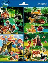 Disney Animals stickervel, Jungle Book, Lion King, Dombo en Bambi