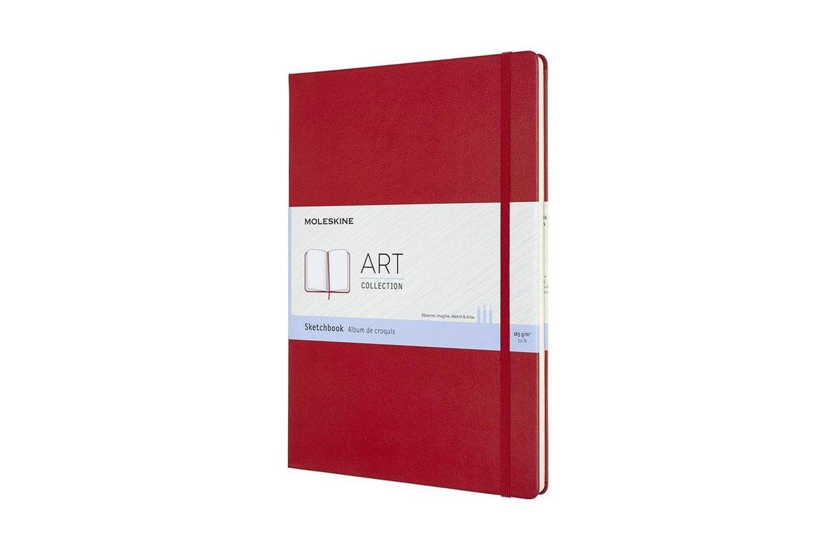 Moleskine-Schetsboekbook-A4-Rood