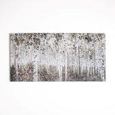 Art for the Home - Canvas Schilderij - Aquarel Bos - Beige - 120x60 cm