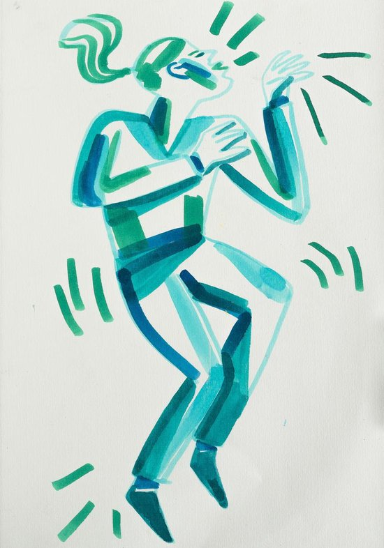 Talens Ecoline 5 brush pens ''Green Blue''